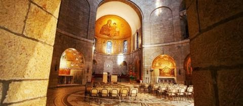 Dormition Abbey Interior Intro.jpg - Discover Israel Highlights Tour