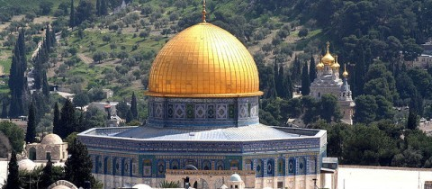 Dome of the Rock_and church_480x210.jpg - Discover Israel & Jordan Heritage Tour
