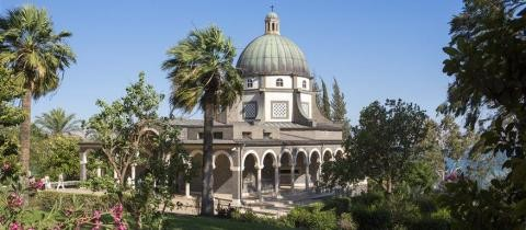 chapel and garden of the Mount of Beatitudes_480x210.jpg - Discover Israel & Jordan Heritage Tour
